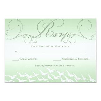 Mint Green Wedding RSVP Card Custom Invitation