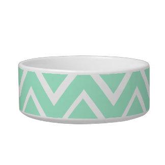 Mint green whimsical zigzag chevron pattern bowl