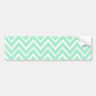 Mint green whimsical zigzag chevron pattern bumper sticker
