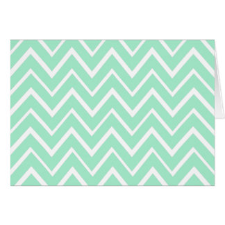Mint green whimsical zigzag chevron pattern cards