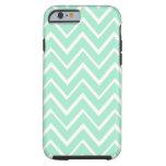Mint green whimsical zigzag chevron pattern tough iPhone 6 case