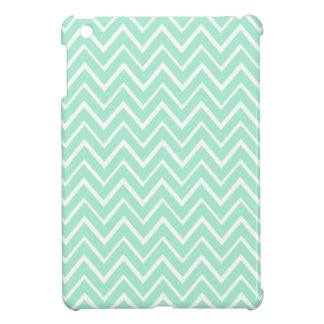 Mint green whimsical zigzag chevron pattern cover for the iPad mini