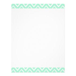 Mint green whimsical zigzag chevron pattern personalized letterhead