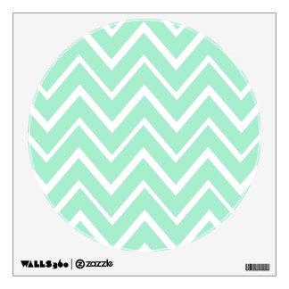 Mint green whimsical zigzag chevron pattern wall sticker