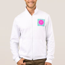 Mint Green White Anchors, Hot Pink Monogram Jacket