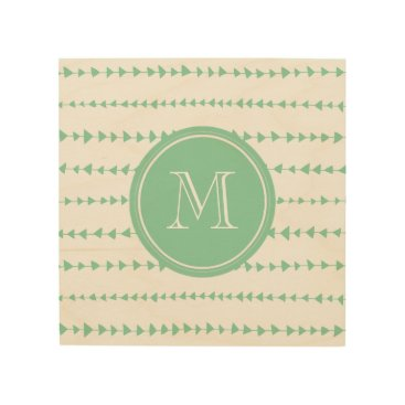 Aztec Themed Mint Green White Aztec Arrows Monogram Wood Wall Decor