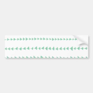 Mint Green White Aztec Arrows Pattern Bumper Sticker