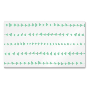 Aztec Themed Mint Green White Aztec Arrows Pattern Business Card Magnet
