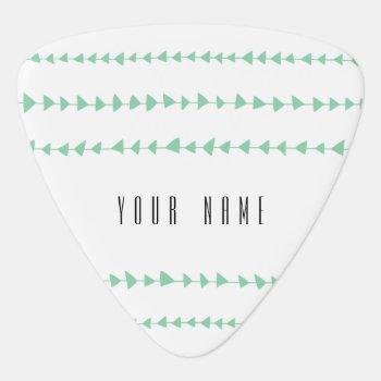 Mint Green White Aztec Arrows Pattern Guitar Pick by GraphicsByMimi at Zazzle