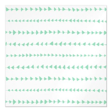 Aztec Themed Mint Green White Aztec Arrows Pattern Magnetic Card