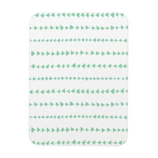 Mint Green White Aztec Arrows Pattern Magnets