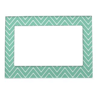Mint Green White Chevron Pattern 2A Frame Magnet