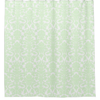 Green Damask Shower Curtains Zazzle
