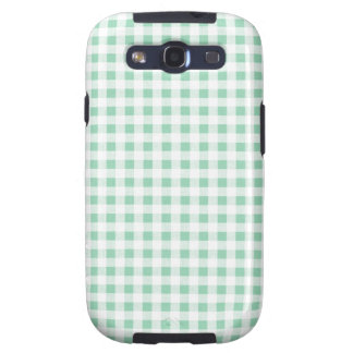 Mint Green White Gingham Pattern Galaxy S3 Covers
