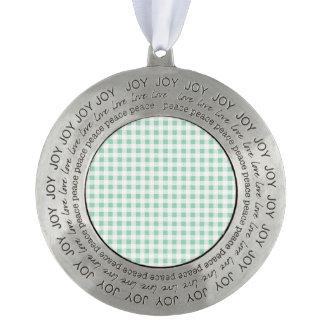 Mint Green White Gingham Pattern