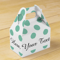 Mint Green White Polka Dots Pattern Favor Box