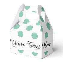 Mint Green White Polka Dots Pattern Favor Box
