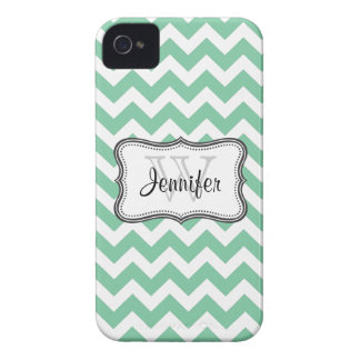 Mint Green & White Trendy chevron iPhone 4/4s iPhone 4 Case-Mate Cases