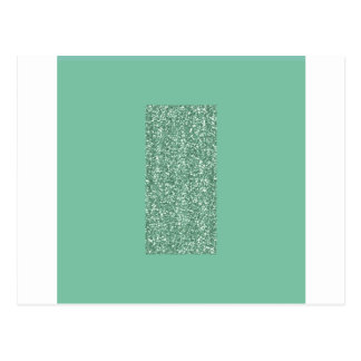 Mint Green with faux glitter Postcard