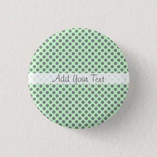 Mint Green with Grey Polka Dots by Shirley Taylor Button