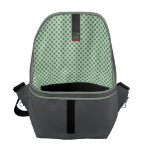 Mint Green With Grey Polka Dots Courier Bag