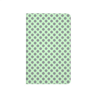 Mint Green With Grey Polka Dots Journal