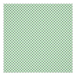 Mint Green With Grey Polka Dots Photo Print