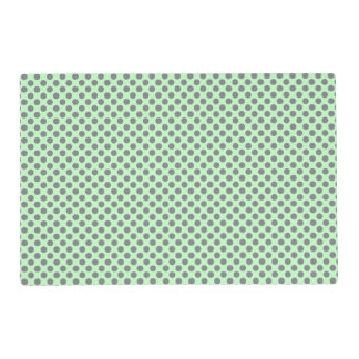 Mint Green With Grey Polka Dots Placemat