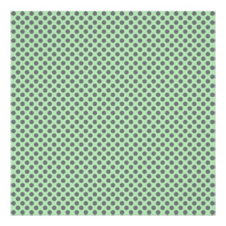Mint Green With Grey Polka Dots Poster