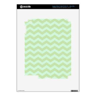 Mint Green Zig Zag Pattern iPad 3 Skin