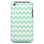 Mint green zig zags zigzag chevron pattern iPod touch cases