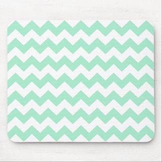 Mint green zig zags zigzag chevron pattern mouse pad
