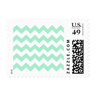 Mint green zig zags zigzag chevron pattern stamp