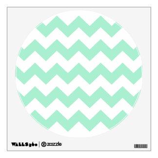 Mint green zig zags zigzag chevron pattern wall sticker