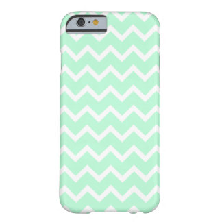 Mint Green Zigzag Chevron Stripes. Barely There iPhone 6 Case