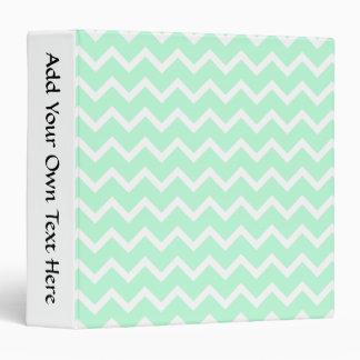 Mint Green Zigzag Chevron Stripes. Binders
