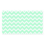 Mint Green Zigzag Chevron Stripes. Business Card Template