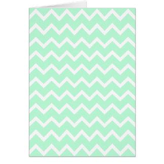Mint Green Zigzag Chevron Stripes. Greeting Card