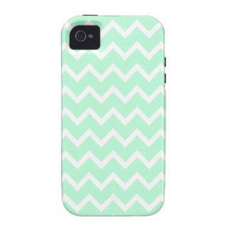 Mint Green Zigzag Chevron Stripes. iPhone 4/4S Case