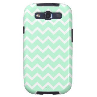 Mint Green Zigzag Chevron Stripes. Samsung Galaxy S3 Case
