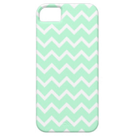 Mint Green Zigzag Chevron Stripes. Case For iPhone 5/5S