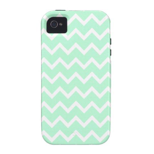 Mint Green Zigzag Chevron Stripes. Case-Mate iPhone 4 Case