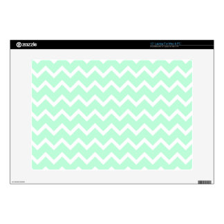 Mint Green Zigzag Chevron Stripes. Decal For Laptop