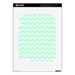 Mint Green Zigzag Chevron Stripes. Decals For iPad 3