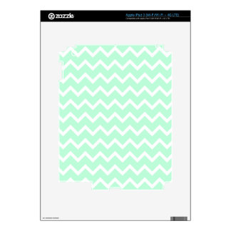 Mint Green Zigzag Chevron Stripes. Decals For iPad 3
