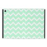 Mint Green Zigzag Chevron Stripes. Cases For iPad Mini