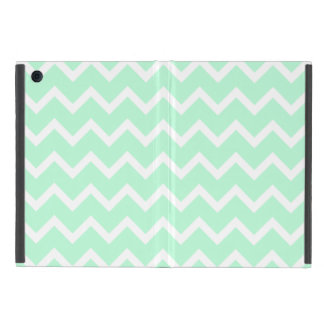 Mint Green Zigzag Chevron Stripes. Cover For iPad Mini