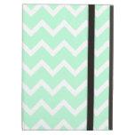 Mint Green Zigzag Chevron Stripes. iPad Case