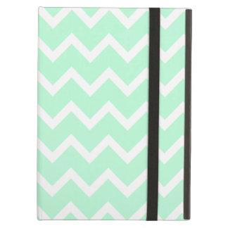Mint Green Zigzag Chevron Stripes iPad Case