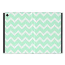 Mint Green Zigzag Chevron Stripes. iPad Mini Case